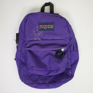 Jansport Superbreak Backpack Purple Silver